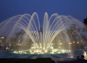 Fuente del circuito mágico del agua en Lima
