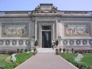 Fachada de museo de arte italiano