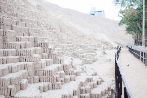 Lateral de piramide de huaca pucllana Lima
