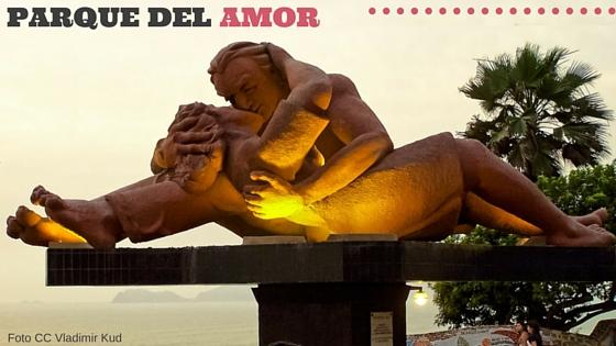Escultura del parque del Amor Lima