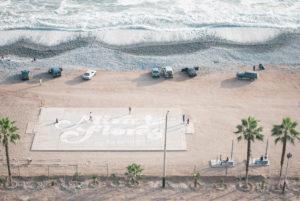 Cancha en Playa de Miraflores en costa verde Lima