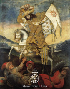 Pintura de Saint_James_Moorslayer en el Museo Pedro de Osma