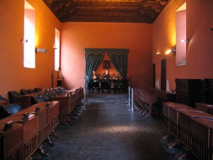 Sala de audiencias museo de la inquisición