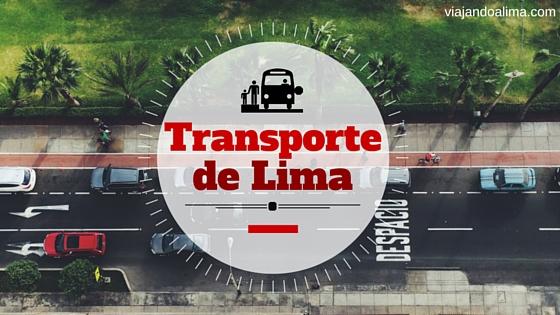 Calles con carros y transportes en lima