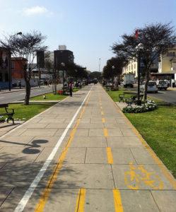 Ciclovía para bicicletas en Lima
