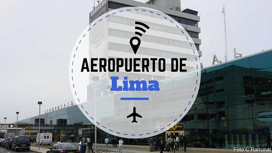 Entrada del aeropuerto de lima