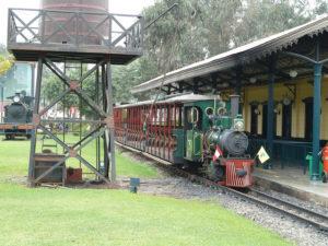 Estacion de tren en parque de la amistad lima