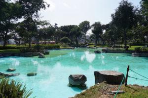 Lago del parque de la exposicion