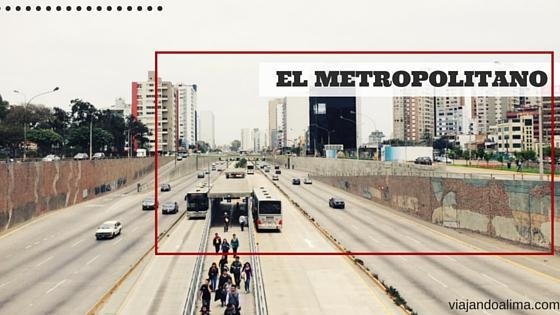 Metropolitano en la via expresa Lima