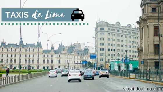 Taxis en el centro historico de lima portada