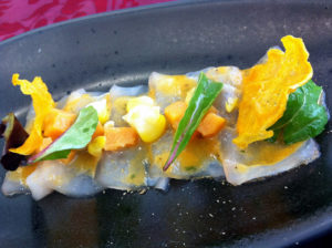 Tiradito de pescado en Lima