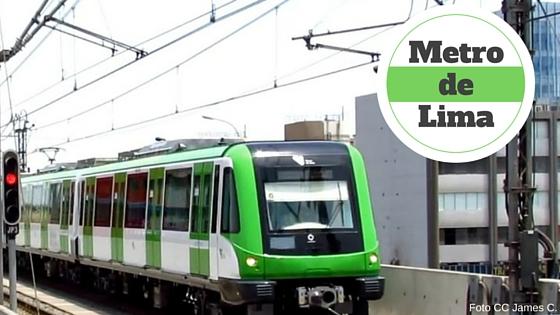 Vagon en marcha de la línea uno del metro de Lima
