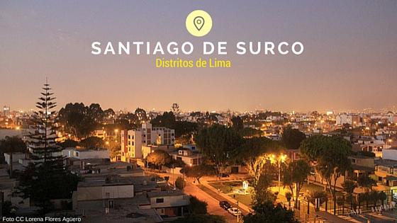 Vista panoramica de santiago de surco de Lima